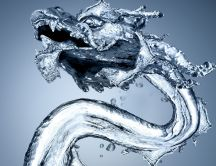Dragon made of water HD Wallpaper