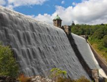 Craig Goch Dam, a masonry dam in the Elan Valley