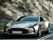 Aston Martin One 77 - Gray car on the road