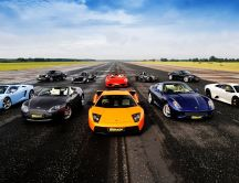 Super sport cars on the road - Racing cars
