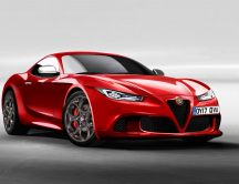 New Alfa Romeo 6C  - Beautiful red car