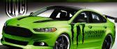 Sport Ford Fusion car with monster symbol