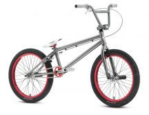 Gray Bmx Bicycle with red wheels