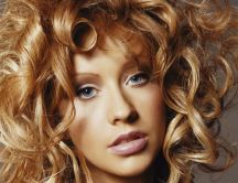 Christina Aguilera with curly hair