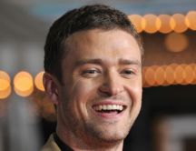 Justin Timberlake with a smile on his face
