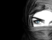 Beautiful blue eyes - HD dark wallpaper