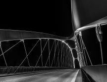 The newest bridge in Frankfurt  - Dark image