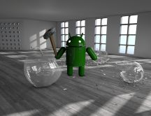 Android vs Apple - 3D and HD wallpaper