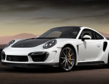 Awesome White Porsche 911 Turbo Stinger