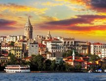 Buildings and sea of Istanbul, Turkey