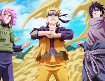 Naruto Uzumaki and friends - Anime characters