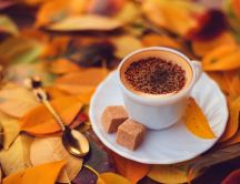 Delicious coffee with brown sugar and cinnamon -HD wallpaper
