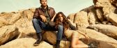 Paul Walker and Izabel Goulart on stones