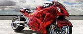 Red gorgeous motorcycle wallpaper