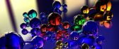 Abstract colorful molecule - Glass balls wallpaper