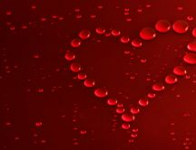 A heart from many red bubbles - HD wallpaper