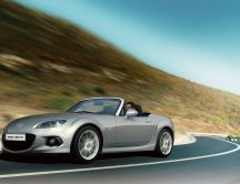 Gray Mazda Roadster Speed MX 5