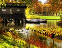 A house on the lake and an amazing landscape