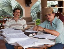 The actors Pablo and Gustavo in the Narcos movie