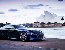 Stunning Lexus LF Concept on the shore of water