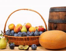 Autumn fruit basket - delicious tastes