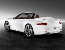 White Porsche 911 Carrera S - Convertible car