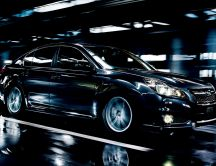 Amazing black Subaru Legacy Car