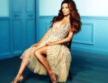 The stunning Eva Longoria in a dress