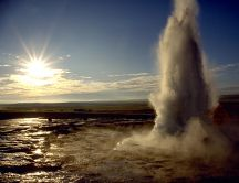 Wonderful explosion of water - HD wallpaper