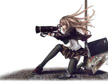 Anime wallpaper - Sweet photographer girl