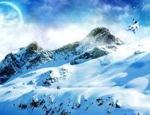 Wonderful winter landscape - snow on the mountains