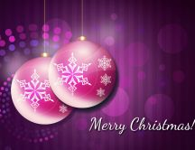 Purple HD wallpaper - Merry Christmas