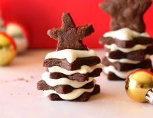 Star chocolate for Santa Claus - HD wallpaper