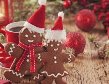 Ginger biscuits - special food for Christmas