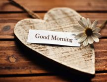 Good morning heart and flower - HD wallpaper