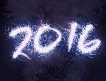 2016 make from fireworks - Happy New Year