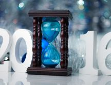 Blue hourglass - The New Year 2016 is here