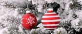 Red glittery Christmas Accessories - Happy winter holidays