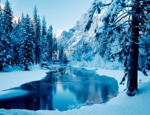 Mountain river - beautiful cold nature