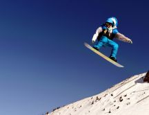 Winter sport - jump with the snowboard