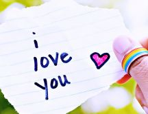 I love you - special message on 14 February- Valentine's Day