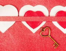 The golden key from your heart - Love you Valentine's Day