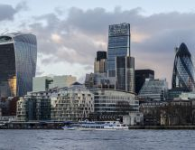 London's financial district - landscape wallpaper