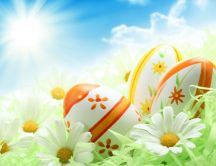 Beautiful sunny spring day - Happy Easter Holiday