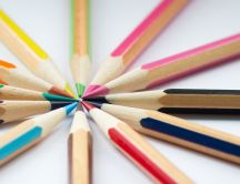 Colourful pencils - paint your world - Macro wallpaper