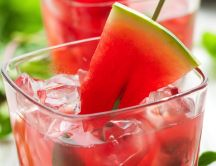 Fresh watermelon drink - hot summer time