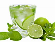 Lime and mint - fresh summer drink