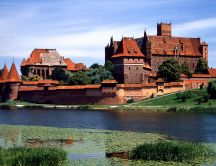 The Malbork Castle from Poland - beautiful architecture