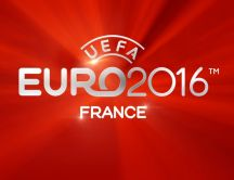 Red wallpaper with UEFA Euro 2016 France