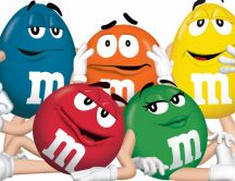 Funny M&M's mascots - Delicious candies